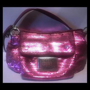 Coach Poppy Limited ED Sequin Groovy Shoulder Bag